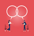discuss reaching an agreement concept vector image vector image