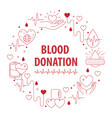 donation blood circle banner vector image vector image