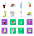 drink and bar logo set of vector image vector image