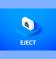 eject isometric icon isolated on color background vector image vector image
