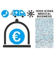 Euro Standard Icon with 1000 Medical Business vector image vector image