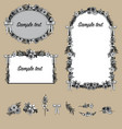 floral decorative frames vector image vector image