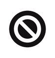 forbidden icon isolated on white background vector image vector image