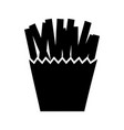 french fries isolated icon vector image vector image