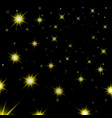 gold stars black night sky background abstract vector image vector image