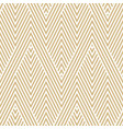 golden geometric seamless pattern modern texture vector image vector image