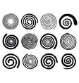 grunge spirals swirling abstract simple rotating vector image