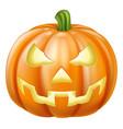 halloween carved pumpkin vector image vector image