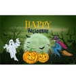 Halloween Party with scary sketch elements vector image vector image