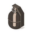 hand grenade icon isolated on white background vector image vector image