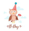 happy birthday greeting card template vector image vector image