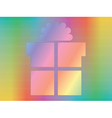 hologram with present box vector image vector image