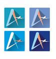 icon airlines airliner and the letter a vector image