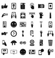 information icons set simple style vector image vector image