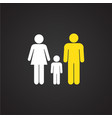 interracial relationship family on black vector image