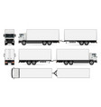 isolated trailer truck vector image
