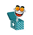 joke box icon vector image vector image
