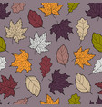 leaves seamless fall 5 vector image vector image