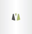 logotype logo v letter v sign icon element vector image vector image