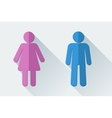 Man and woman toilet symbols in flat style vector image vector image