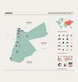 map jordan high detailed country