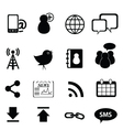 media technology icons vector image vector image
