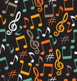 Musical background from notes vector image vector image