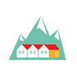 norway homes flat on white vector image vector image