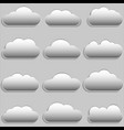 paper clouds vector image vector image