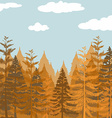 Pine forest at daytime vector image vector image