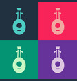 pop art musical instrument lute icon isolated