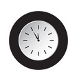 round black white button icon - last minute clock vector image vector image