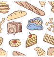 seamless background different flour vector image
