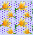 seamless floral pattern with yellow lily flowers vector image