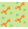Seamless pattern with funny giraffes vector image