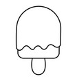 semicircular ice cream icon outline line style vector image vector image
