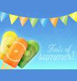 set of ice cream with fruit vector image vector image
