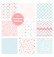 set of nine graceful seamless patterns vector image