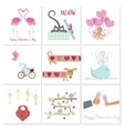 Set of Valentines day banners vector image vector image