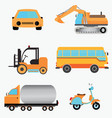 set of vehicles vector image vector image
