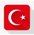 Simple flat icon Turkey flag vector image vector image