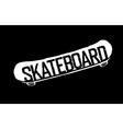 skateboard vintage logotype vector image vector image
