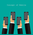 smart devices phone in hand vector image