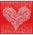 St Valentine Love Red Heart Card IV vector image