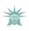 statue of liberty surprised emoji us landmark vector image vector image