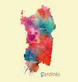 stylized map italian island sardinia vector image