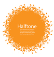 Sunny Halftone Design Element vector image vector image