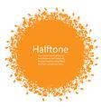 Sunny Halftone Design Element vector image