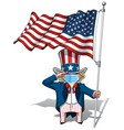 uncle sam saluting us flag - surgical mask vector image vector image