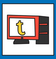 unusual look tumblr social media icons vector image vector image
